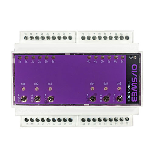 6 digital output relays 12 digital inputs module for bms and monitoring
