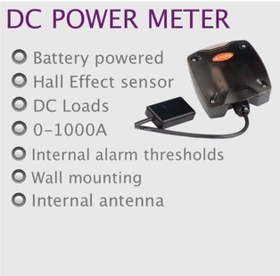 wireless monitoring and control dc power meter