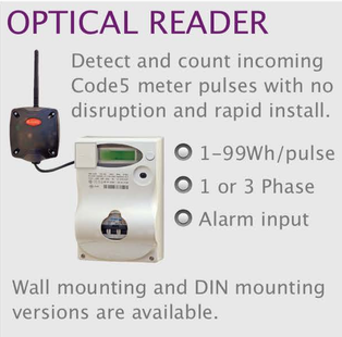 wireless monitoring and control optical reader